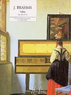 Valse Opus 39-15 - BRAHMS - Partition - Piano - laflutedepan.com