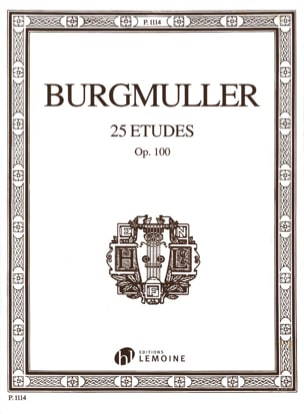 Frédéric Burgmuller - 25 Etudes Opus 100 - Partition - di-arezzo.fr