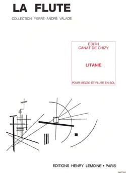 Litanie de Chizy Edith Canat Partition laflutedepan