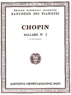 Ballade N°2 Opus 38. Fa Majeur - Frédéric Chopin - laflutedepan.com