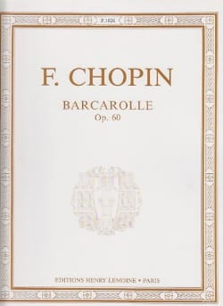 Frédéric Chopin - Barcarolle Opus 60 - Partition - di-arezzo.fr