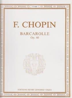 CHOPIN - Barcarolle Opus 60 - Partitura - di-arezzo.es