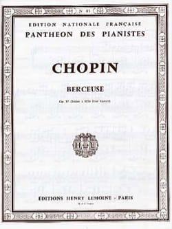 Berceuse Opus 57 - CHOPIN - Partition - Piano - laflutedepan.com