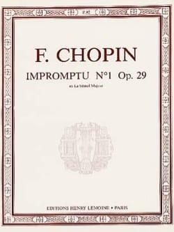 Frédéric Chopin - Impromptu N°1 Opus 29 la Bémol Majeur - Partition - di-arezzo.fr