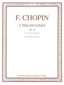 CHOPIN - 2 Polish Opus 26 - Sheet Music - di-arezzo.com
