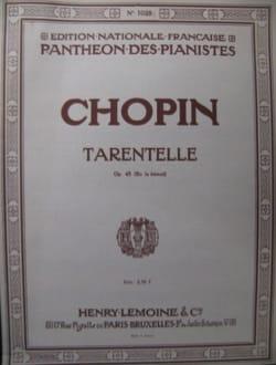Tarentelle En la Bémol Opus 43 - CHOPIN - laflutedepan.com