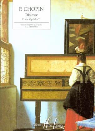 Tristesse Opus 10-3 - Frédéric Chopin - Partition - laflutedepan.com