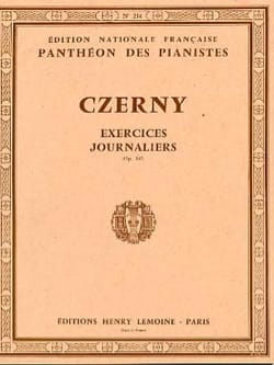 40 Exercices Journaliers Opus 337 CZERNY Partition laflutedepan