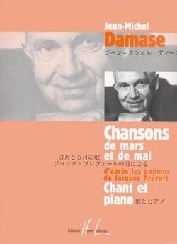 Jean-Michel Damase - Chansons de Mars et de Mai - Partition - di-arezzo.fr