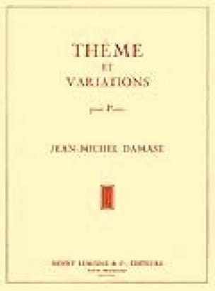 Jean-Michel Damase - Theme and Variations - Sheet Music - di-arezzo.co.uk