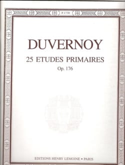 Jean-Baptiste Duvernoy - 25 Primary Studies Opus 176 - Sheet Music - di-arezzo.co.uk