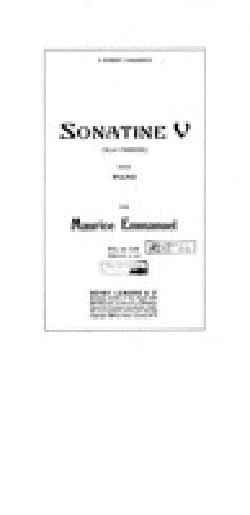 Maurice Emmanuel - Sonatine 5 - Sheet Music - di-arezzo.co.uk