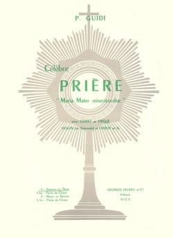 Prosper Guidi - Prière N°1 (Maria Mater Gratiae) - Partition - di-arezzo.fr
