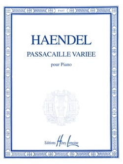 HAENDEL - Passacaille Varied - Sheet Music - di-arezzo.co.uk