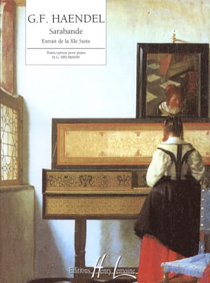 Sarabande De La XIème Suite HAENDEL Partition Piano - laflutedepan