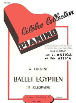 Ballet Egyptien N°3 : Cléopâtre - Luigini - laflutedepan.com