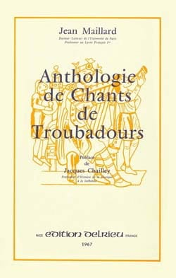 Anthologie des chants de troubadours Partition laflutedepan