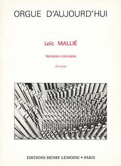 Variation Circulaire Loïc Mallie Partition Orgue - laflutedepan