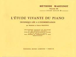 Ginette Martenot - Etude Vivante du Piano - Volume 3B - Partition - di-arezzo.fr