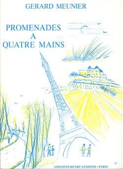 Promenades. 4 Mains Gérard Meunier Partition Piano - laflutedepan