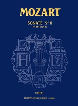 MOZART - Sonate N° 6 KV 284 Urtext - Partition - di-arezzo.fr