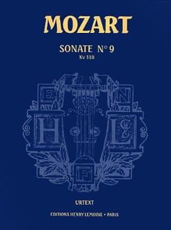 MOZART - Sonate N° 9 KV 310 Urtext - Partition - di-arezzo.fr