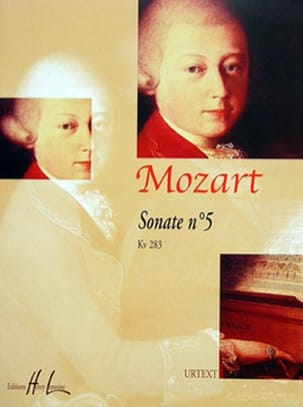 Sonate N°5 KV 283. MOZART Partition Piano - laflutedepan