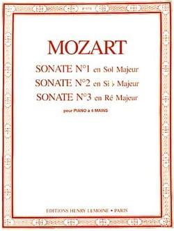 MOZART - Sonates A 4 Mains N°1 A 3 - Partition - di-arezzo.fr