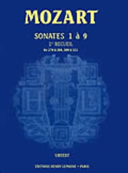 MOZART - Sonates Vol.1 N° 1 A 9 Urtext - Partition - di-arezzo.fr