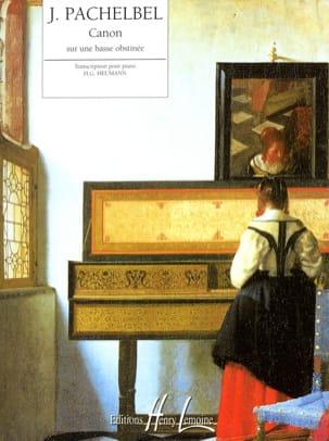 Johann Pachelbel - Canon sur une Basse Obstinée - Partition - di-arezzo.fr
