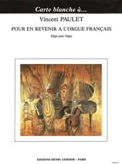 Pour En Revenir A L'orgue Français, Elégie - laflutedepan.com