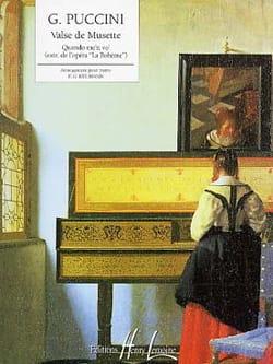 Giacomo Puccini - Valse De Musette quando Me'n Vo - Partition - di-arezzo.fr