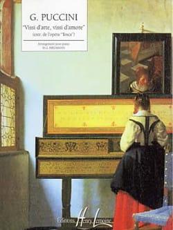 Giacomo Puccini - Vissi D'arte, Vissi D'amore - Partition - di-arezzo.fr