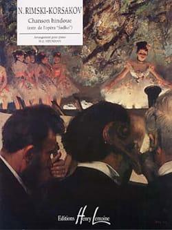 Chanson Hindoue RIMSKY-KORSAKOV Partition Piano - laflutedepan