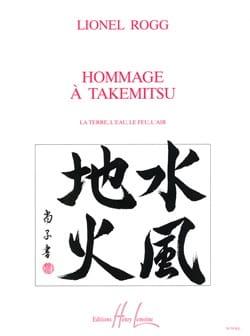 Hommage à Takemitsu - Lionel Rogg - Partition - laflutedepan.com