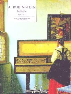 Anton Rubinstein - Mélodie Opus 3-1 - Partition - di-arezzo.fr