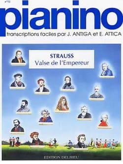 Valse de l'empereur - Pianino 52 J. Strauss Partition laflutedepan