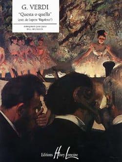 Questa O Quella - Giuseppe Verdi - Partition - laflutedepan.com