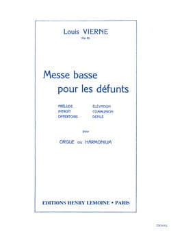 Louis Vierne - Low Mass For The Dead Opus 62 - Sheet Music - di-arezzo.co.uk