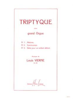 Louis Vierne - Triptyque Opus 58 - Partition - di-arezzo.fr