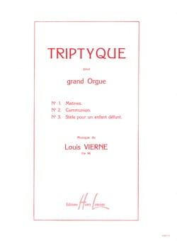 Louis Vierne - Triptych Opus 58 - Sheet Music - di-arezzo.com