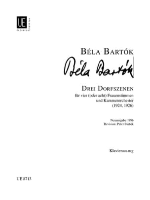 BARTOK - 3 Dorfszenen - Sheet Music - di-arezzo.co.uk