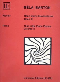 BARTOK - 9 kleine Klavierstücke, Band II - Partition - di-arezzo.fr
