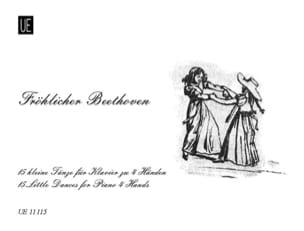 Fröhlicher Beethoven. 4 mains - BEETHOVEN - laflutedepan.com