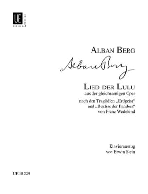 Alban Berg - Lied der Lulu. - Partition - di-arezzo.fr