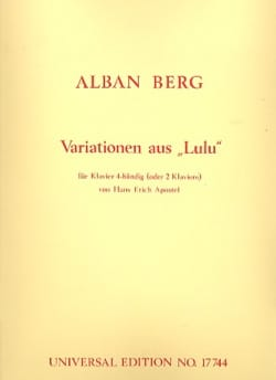 Alban Berg - Variations sur Lulu. 4 Mains - Partition - di-arezzo.fr