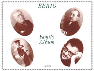 Berio Family Album BERIO Partition Piano - laflutedepan