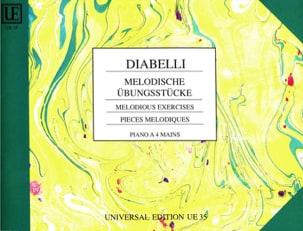 Pièces Mélodiques Opus 149. 4 Mains DIABELLI Partition laflutedepan