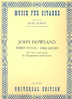 John Dowland - 3 Lieder - Sheet Music - di-arezzo.co.uk
