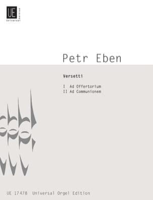 Versetti 1982 Petr Eben Partition Orgue - laflutedepan